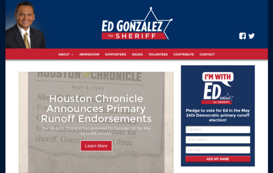 Ed Gonzalez for Sheriff